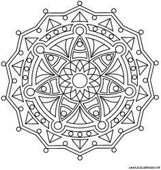 Coloriage De Mandalas, Mandala Mandala Formes Géométriques A Imprimer - AZ Coloriagehttp://www.1max2coloriages.fr/coloriages/art-therapie/art-therapie-tasses.html
