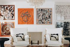 How to Frame Your Vintage Hermés Scarf - Paula Rallis Hermes Home, Hermes Paris, White Leather Chair, Home Ceiling, Inspired Homes, House Colors, Interior Design Living Room, Decoration, Room Decor