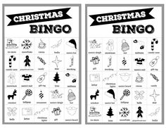 Christmas bingo holiday game for a Christmas party or classroom party activity. Christmas Bingo Printable, Christmas Bingo Cards, Christmas Party Activities, Christmas Board Games, Holiday Games, Preschool Christmas, Bingo Holiday, Printable Cards, Free Printables