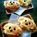 In Japanese, but step by step photos how to make these cute puppy buns.