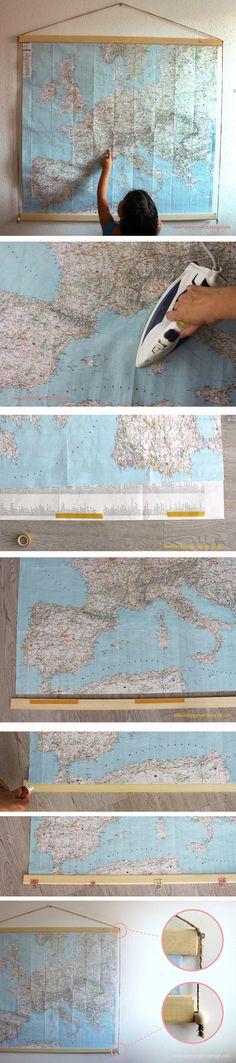#colgador #DIY para #mapa