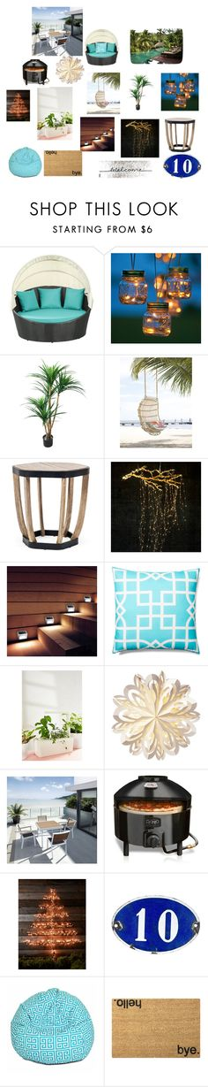 """outdoor dream house"" by summer124 on Polyvore featuring interior, interiors, interior design, home, home decor, interior decorating, Improvements, TradeMark, Ethimo and Allem Studio"
