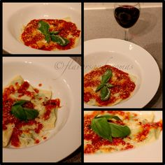 Homemade Ravioli with Ricotta and Spinach Filling, Served with Tuscan TomatoSauce
