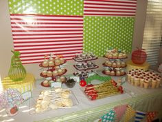 Very Hungry Caterpillar Party table #veryhungrycaterpillar #desserttable