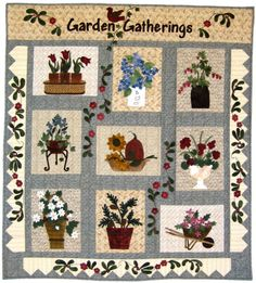 cotton panels with wool applique