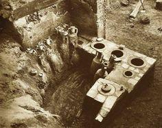 Таверна в Помпеях. Раскопки в конце 19 века.