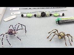 Instructions on how to make a beaded spider using wire, glass seed beads, bugle beads and one large bead. I've also put together a free worksheet with step-b...