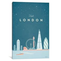 iCanvas London Gallery Wrapped Canvas Art Print by Henry Rivers