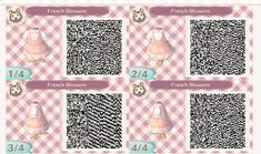acnl french blossom dress qr code - - acnl qr codes - Welcome Haar Design Animal Crossing 3ds, Animal Crossing Qr Codes Clothes, Animal Crossing Pocket Camp, Acnl Qr Codes Dresses, Acnl Paths, Amazing Animals, Animals Beautiful, Motif Acnl, Ac New Leaf