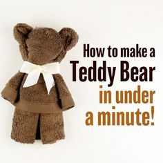 For teddy bear lovers out there, here is how to make a teddy quick and easy! #diy_bftv