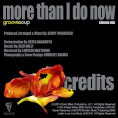 MORE THAN I DO NOW (Cinema Mix)(Feat. Reed Wiley) by Groovesoup