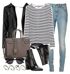 """Style #9519"" by vany-alvarado ❤ liked on Polyvore featuring AllSaints, Yves Saint Laurent, T By Alexander Wang and ASOS"
