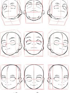 Drawing Heads, Drawing Base, Body Reference Drawing, Drawing Reference Poses, Body Drawing Tutorial, Drawing Expressions, Art Inspiration Drawing, Anime Drawings Sketches, Digital Art Tutorial
