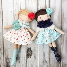 Beautiful rag dolls by SpunCandy #spuncandydolls #handmadedolls #etsyseller #dollmakersofinstagram #clothdolls #happythoughtscollection #nov5restock