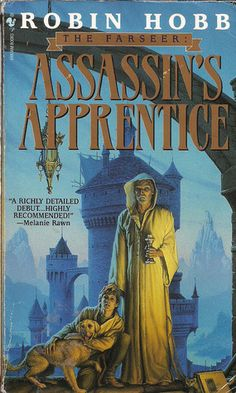 Assassin's Apprentice (Farseer Trilogy, #1) by Robin Hobb  This book kicks off the 1st of two trilogies in this world, both of which are very good.  Hobb is one of the few authors who have been able to bring me to tears with their stories.  You really get attached to her characters.