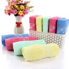 Dragonfly Pattern Cotton Soft Breathable Absorbent Household Bath Face Towel