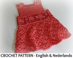 Engels Nederlands Haakpatroon Baby Jurkje door ElodyKnitsforKids