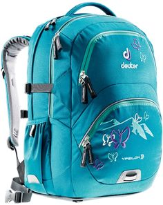Deuter Ypsilon Schulrucksack petrol butterfly North Face Backpack, Trees To Plant, Butterfly, Backpacks, Products, Skirt, Travel Tote, Suitcase, Famous Brands