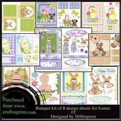 Bumber Kit 8 Easter Sheets 2 on Craftsuprint - Add To Basket!