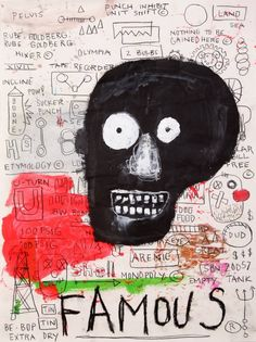 """Some days I can't get an idea, and I think, 'Man, I'm just washed up,' but it's just a mood"" Jm Basquiat, Jean Michel Basquiat Art, Keith Haring, Willem De Kooning, Pop Art Andy Warhol, Graffiti, Neo Expressionism, Franz Kline, Art Brut"
