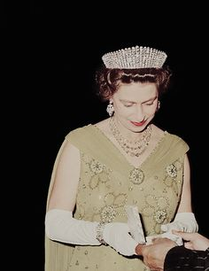 """margaretroses: """" Queen Elizabeth II on a State Visit to Mexico in 1975. © The Royal Collection. """""""