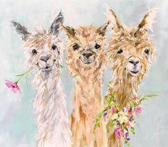 """""""Alpacas"""" by Susan Pepe www.susanpepedesigns.com"""