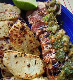 Grilled Pork Tenderloin With Pickled Jalapeño Salsa HispanicKitchen.com
