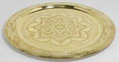 "Amazon.com | Moroccan Tea Serving Tray Serving Cocktail Vintage Decorative Platters 14"": Serving Trays"