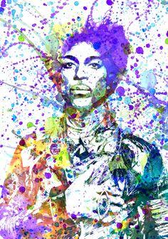 Prince Art Print, Prince art print, Prince poster, purple rain art print, prince fan art, prince wall art, prince abstract art