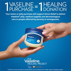 #Sponsored The Vaseline Healing Project | Cosmetic Sanctuary [unbelievably simple way to donate to the betterment of others. jh]