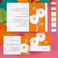 orange blooming wedding invite #orange #invitation #wedding