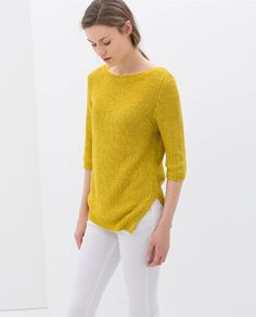 Image 2 of SWEATER WITH ASYMMETRIC HEM from Zara