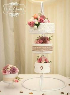 Hanging wedding cakes