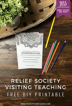 FREE Visiting Teaching Printable for September 2017   Of One Heart   Relief Society   Visiting Teaching Handouts   Prickly Pear Design Co.