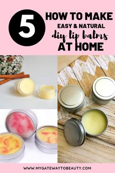 DIY LIP BALM recipe without beeswax in 3 tinted shades. With moisturizing coconu Vaseline, Aloe Vera, Beeswax Recipes, Beauty Hacks For Teens, Lip Scrub Homemade, Lip Balm Recipes, Berry Lips, Diy Lip Balm, Natural Lip Balm