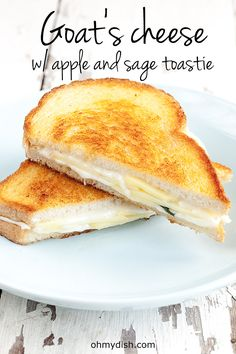 Try something new with this goat's cheese with apple and sage toastie. Delicious, refreshing and surprisingly good. What's not to love about melted cheese?