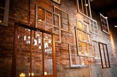 love the layered antique windows