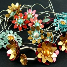 "Check beautiful contemporary ""Flowers In Color"" Collection by MARTYNA TEJWAN-PL   Happy shopping with ""Silver Chamber""!"