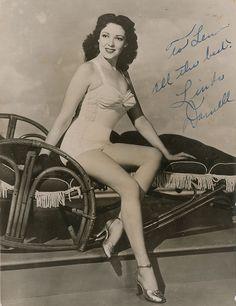 Linda Darnell signed photo