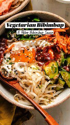 Vegetarian Asian Recipes, Real Food Recipes, Vegetarian Recipes, Cooking Recipes, Healthy Recipes, Gluten Free Recipes, Clean Eating, Healthy Eating, Good Food
