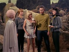 """Star Trek 1 x 12 """"The Menagerie Pt 2 """" Susan Oliver as Vina Majel Barrett as Number One Laurel Goodwin as Yeoman Colt"""