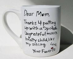 I need to give this to my mother!