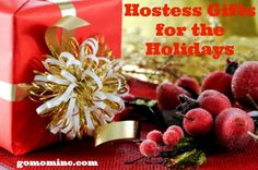 Scrambling to find the perfect hostess gifts but more likely forgetting you need them until the last minute every single time?  More than any other time of year the holidays are game on for being ready for your busy social calendar.  Check out our tips for how to thank you hostess with a special gift she'll love to have! Hostess Gifts for the Holidays | gomominc.com