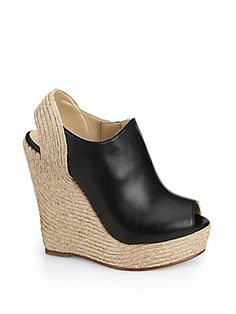 Gucci Tiffany Leather Espadrille Wedges