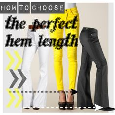 How to choose the perfect hem length for your pants (and how to break the rules). http://www.closet-coach.com/2013/01/29/how-to-choose-the-perfect-hem-length-for-your-pants/?utm_medium=social_media_campaign=Traffic