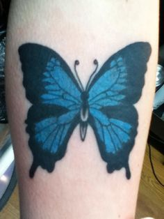 Simple butterfly tattoos by danny clark Simple Butterfly Tattoo, Butterfly Tattoo Meaning, Butterfly Tattoo On Shoulder, Butterfly Tattoos For Women, Butterfly Tattoo Designs, Arm Tats, Leg Tattoos, Traditional Roses, Traditional Tattoo