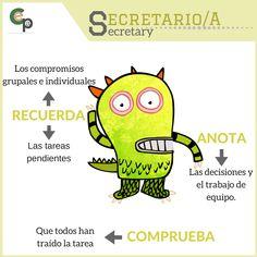 ROL APRENDIZAJE COOPERATIVO: Secretario/a. Dojo, Cooperative Learning, Management, Classroom, Science, Escape Room, Google Drive, School, Spanish