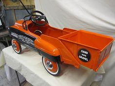 *1952 MURRAY SAND & GRAVEL DUMP TRUCK ~ Pedal car