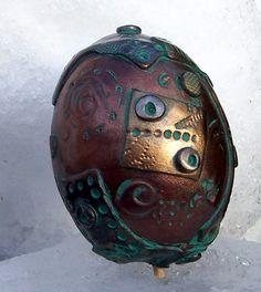 Polymer Clay Steampunk Egg7 by ~ValerianaSolaris on deviantART