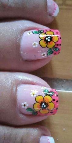 Spiritual Health Important Pedicure Nail Art, Toe Nail Art, Nail Art Diy, Wow Nails, Cute Nails, Cute Pedicure Designs, Cute Pedicures, Daisy Nails, Spring Nail Art